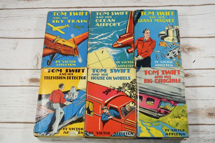 6 Vintage #TomSwift #Books HC/DJ Television Dirigible Sky Train House Ocean