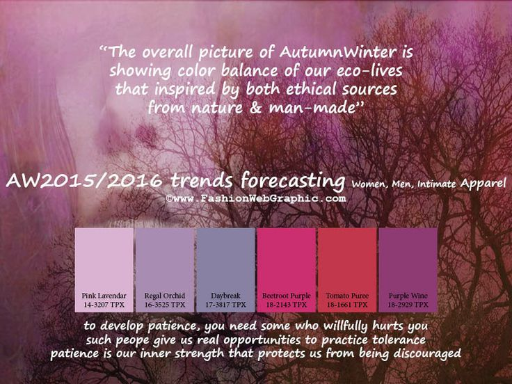 AW2015/2016 trends forecasting for Women, Men, Intimate Apparel - The overall picture of Autumn Winter is showing color balance of our eco-l...