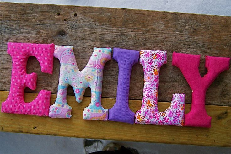 25 best ideas about fabric covered letters on pinterest for Wooden letters for crafts