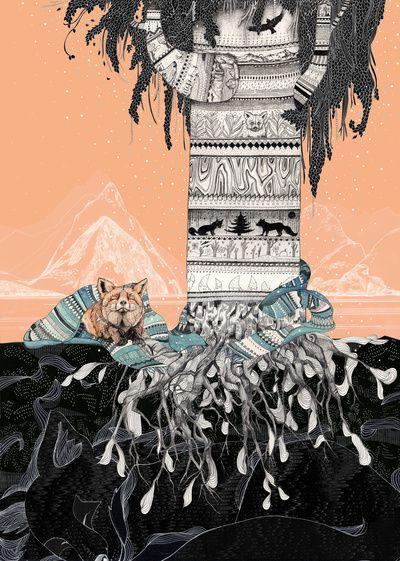 Fox Tree    by Sandra Dieckmann Illustration