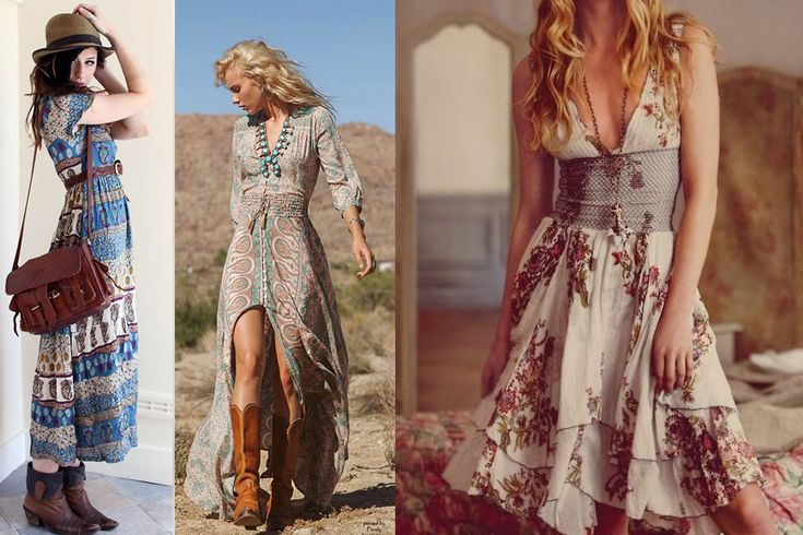 vestidos country floridos