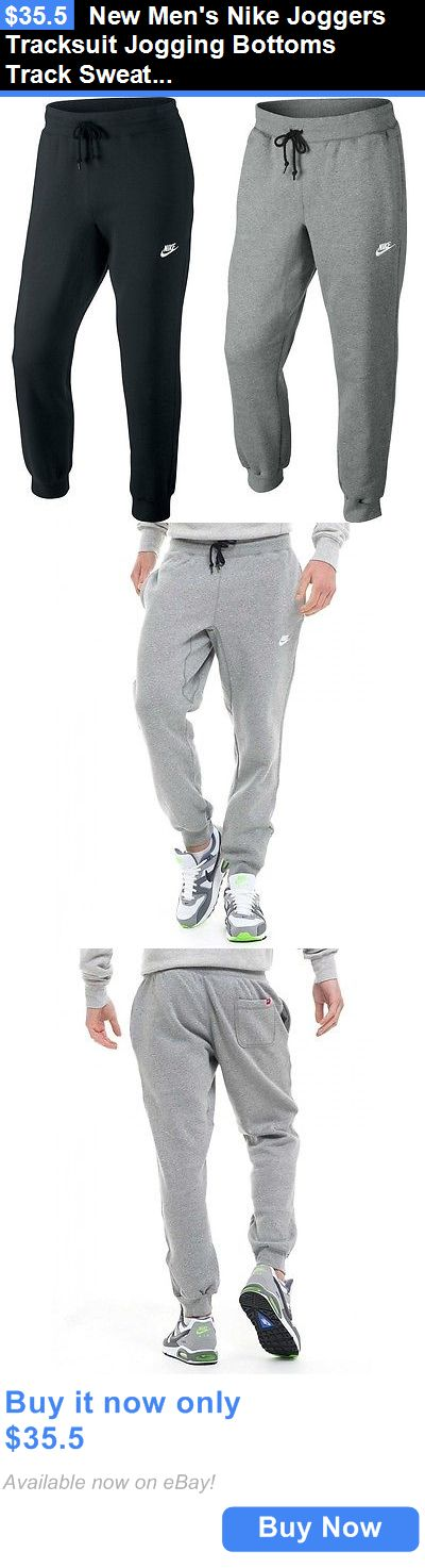 Men Athletics: New Mens Nike Joggers Tracksuit Jogging Bottoms Track Sweat Pants - Black Gray BUY IT NOW ONLY: $35.5