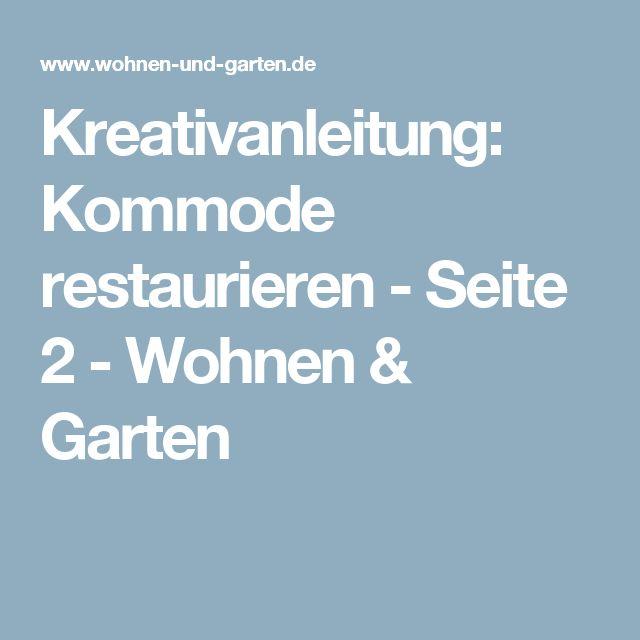 Kreativanleitung: Kommode restaurieren - Seite 2 - Wohnen & Garten