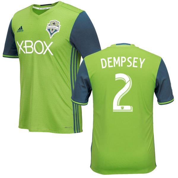 Clint Dempsey 2 Seattle Sounders FC 2016/17 Home Soccer Jersey Rave Green