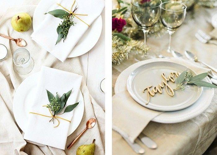 Tisch Dekorieren tisch dekorieren weiße tischdecken grüne blätter dekoration