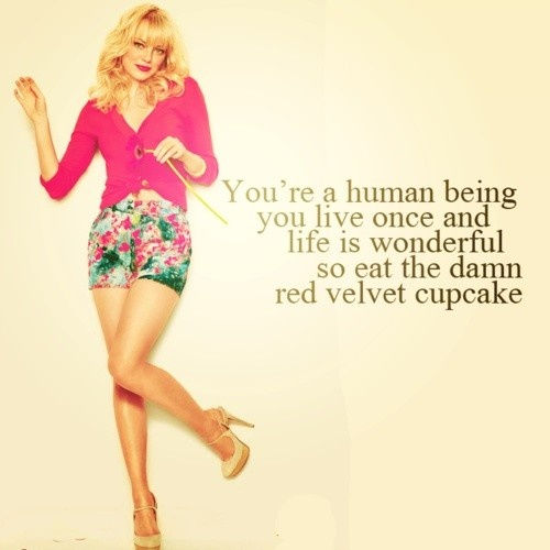 Emma Stone quotes: Eat the damn red velvet cupcake!