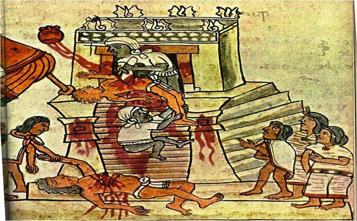 Dit zijn de Azteken die hun slaven opofferen dat deden door de gezichten van de slaven blauw te verven en hun hard uit de slaaf te halen Azteken leefden in een agrarische - stedelijke samenleving en in een klassensameleving  Een klassensamenleving: de burgers worden in groepen verdeeld gebaseerd op bezit en macht