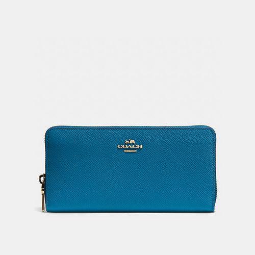 Discount Coach Outlet & COACH ACCORDION zip wallet LIGHT GOLD/DENIM