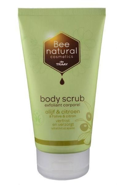 Body scrub olijf & citroen 150 ml  #honingland