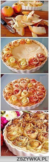 """eine """"Rosen""""-Apfeltorte"""