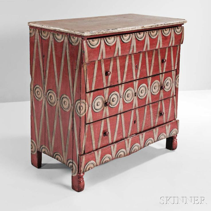 Continental Painted Chest of Drawers | Sale Number 3000B, Lot Number 609 | Skinner Auctioneers