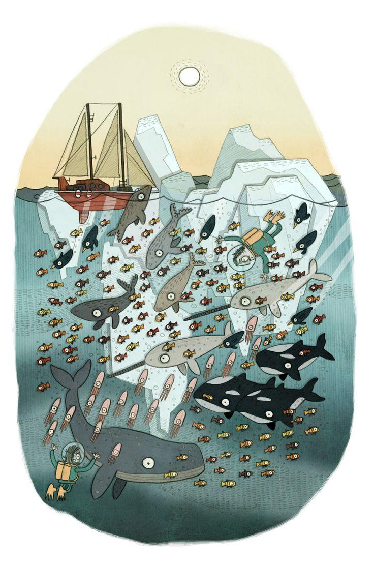 Brendan Kearney - Arctic Ocean children's illustration