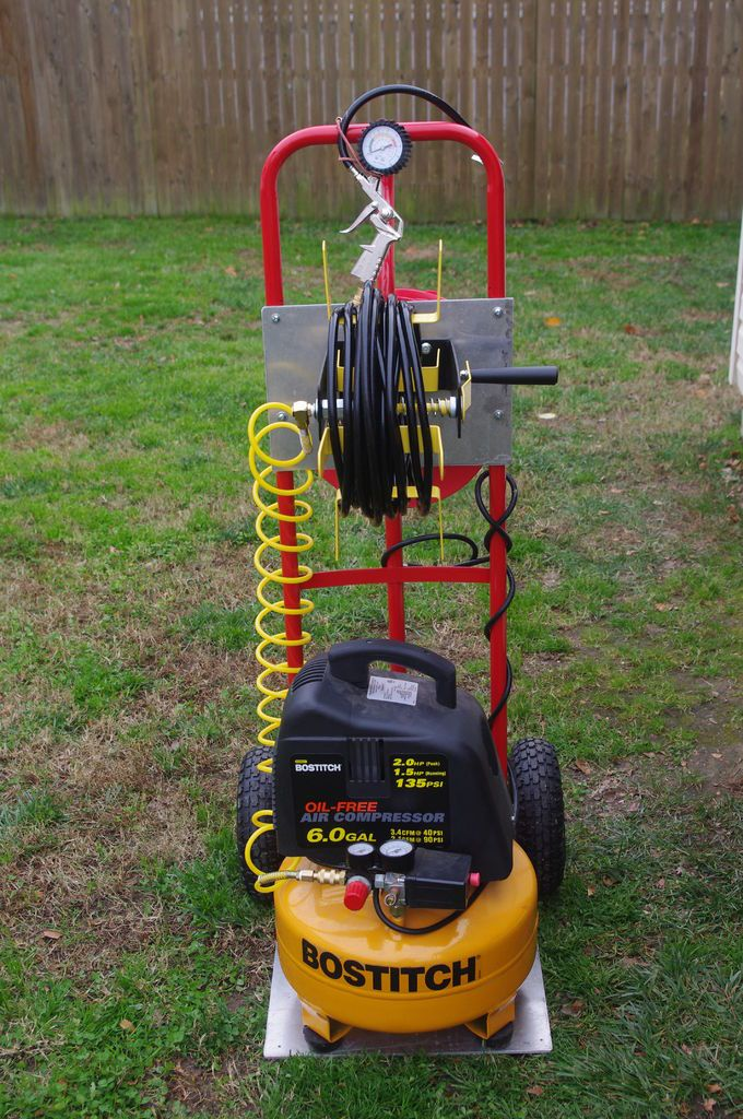 10 Images About Air Compressor Cart And Storage On