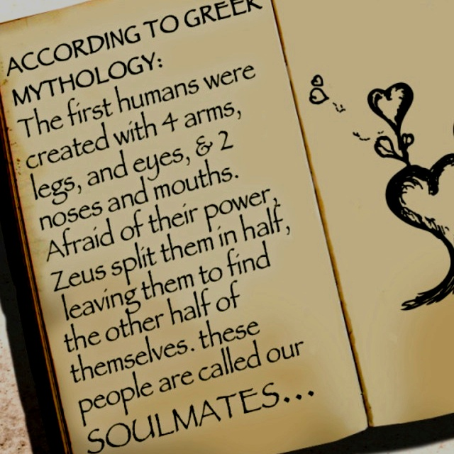 Greek Mythology Soulmates. Do you believe?