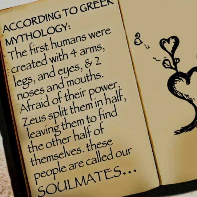 Greek Mythology Soulmates. Do you believe?