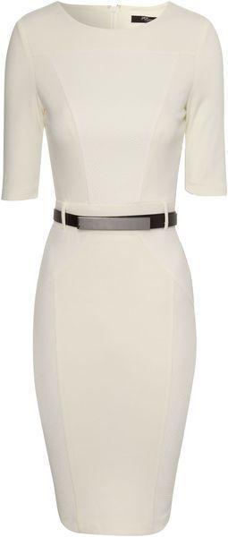 Textured Panel Dress - Lyst