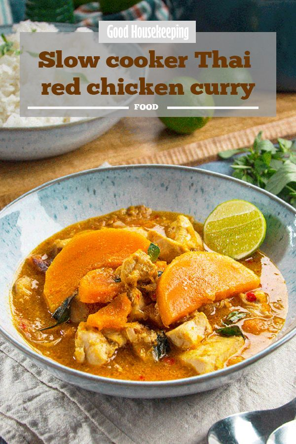 Slow Cooker Thai Red Chicken Curry Recipe Slow Cooker Recipes