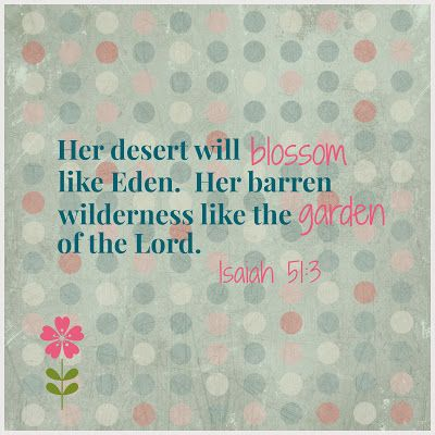 God promises joy and gladness will spring forth out of barrenness | AmateurNester.com | #infertility