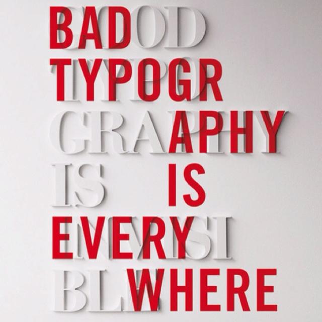 Good typography.