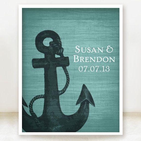 Anchor Together  Custom Nautical Wedding by spoiledroyalstudio