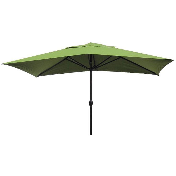 Escada Designs Kiwi Green 10u0027 X 6u0027 Rectangular Patio Umbrella (Kiwi), Size  10 Foot (Aluminum)