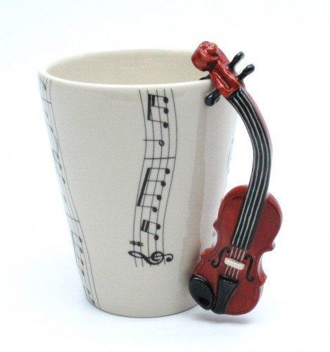 Violin Mug Ceramic Coffee Cup Handmade Home Decor Music Lover Gifts Madamepomm Housewares On