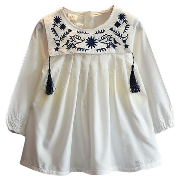 Long Sleeved Embroidery Top Baby Girl Pinterest