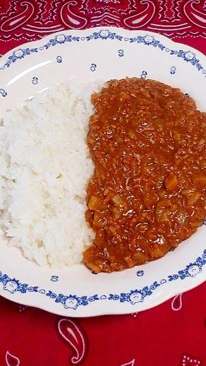簡単10分レシピ,混ぜてチン☆キーマカレー