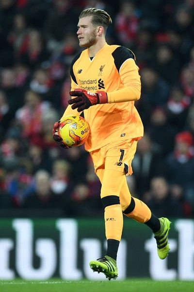 Liverpool's German goalkeeper Loris Karius controls the ball during the EFL (English Football League) Cup semi-final second-leg football match between Liverpool and Southampton at Anfield in Liverpool, north west England on January 25, 2017. / AFP / Paul ELLIS / RESTRICTED TO EDITORIAL USE. No use with unauthorized audio, video, data, fixture lists, club/league logos or 'live' services. Online in-match use limited to 75 images, no video emulation. No use in betting, games or single…