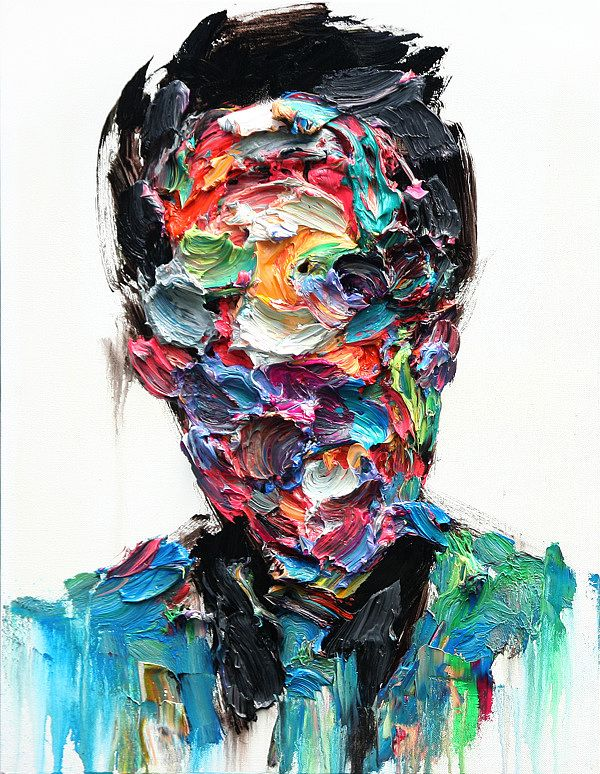 Dark, but I like something about it. The colors and the controlled chaos.   Untitled Oil on Canvas by KwangHo Shin