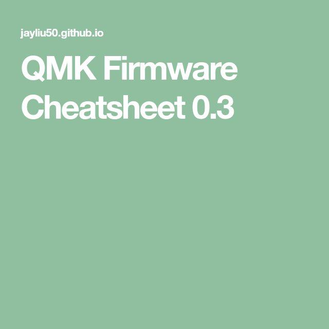 Qmk firmware