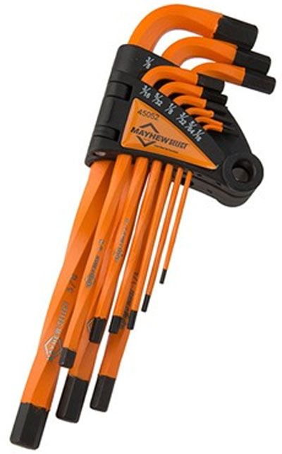 These Mayhew Select USA-made hex keys are twisted as a way to increase their torque capacity.