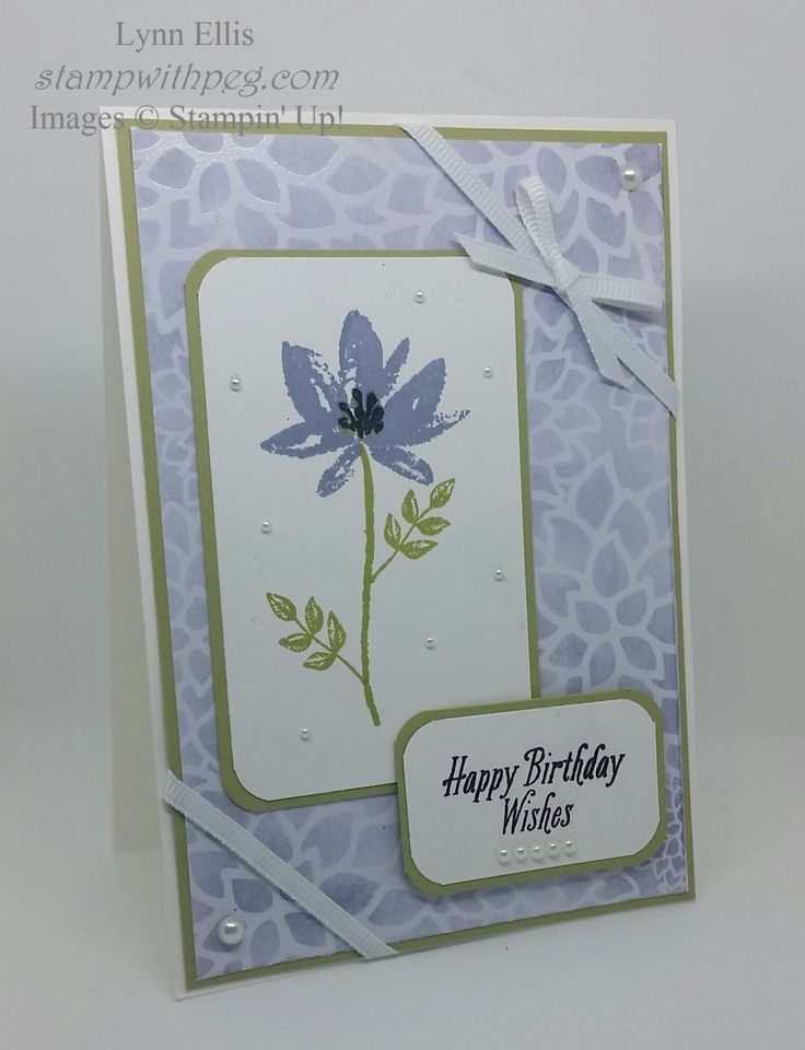 Stampin' Up! Demonstrator stampwithpeg  : Sale-a-bration Wednesday – Happy Birthday Avant Garden Welcome to my new Sale-a-bration Wednesdays, for the next 13 Wednesday while Sale-a-bration is…
