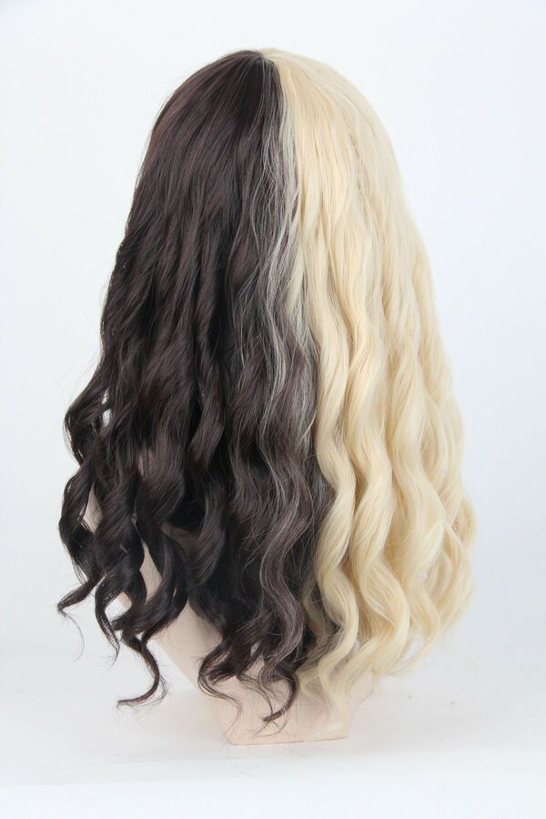 Women S Wigs Short Cosplay Half Blonde And Brown Curly Hair For Melanie Martinez 605175302418 Ebay Dyed Blonde Hair Split Dyed Hair Hair Color For Black Hair
