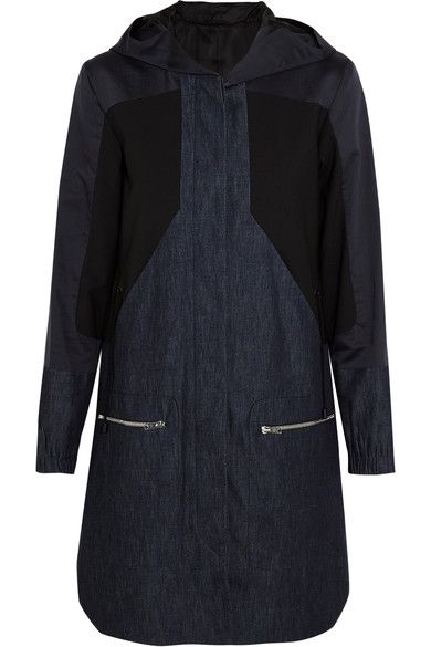 Tim Coppens - Denim, Cotton And Silk-blend And Stretch-wool Parka - Mid denim - x small
