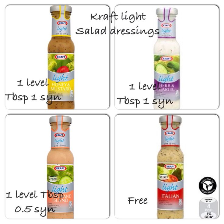 Kraft light dressing syns
