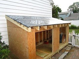 How To Build A shed.  Cover with pallet slats as siding and a tin roof.