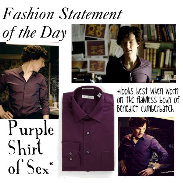 """""""Sherlock-Purple Shirt of Sex"""" by companionclothes on Polyvore"""