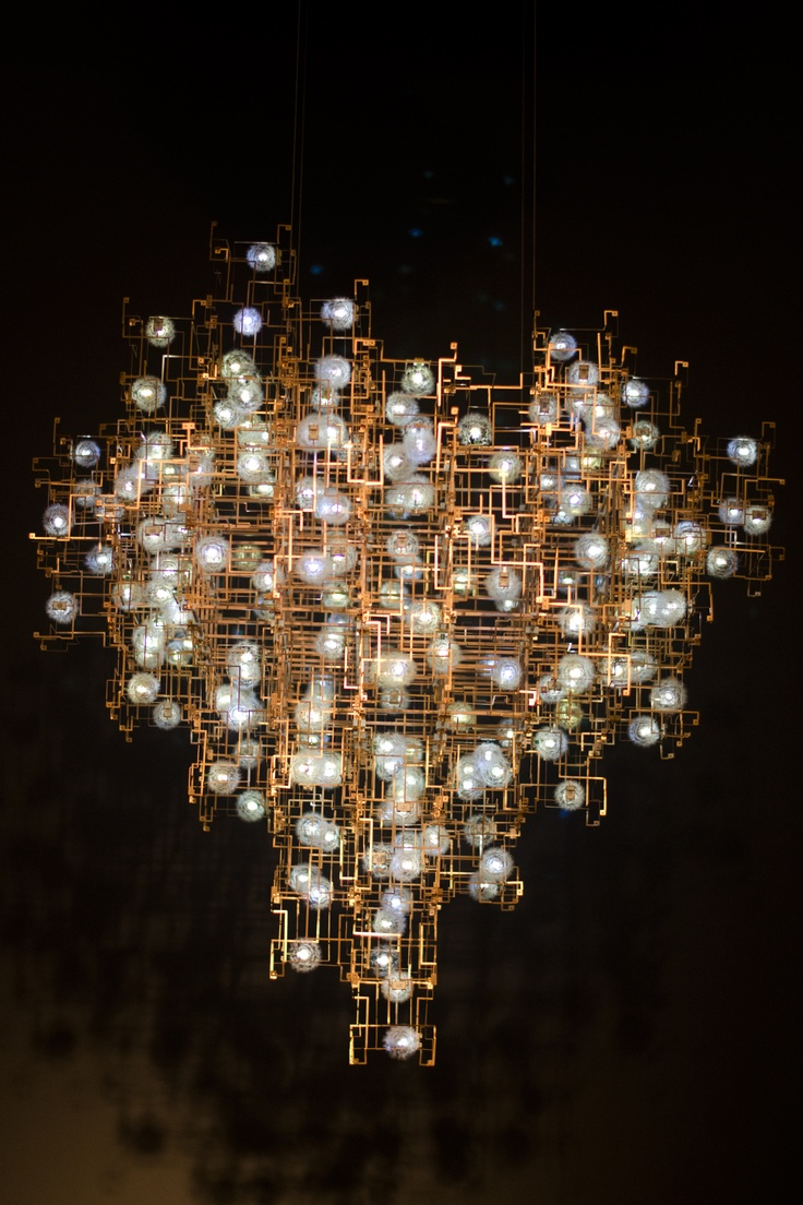 I'm a sucker for chandeliers and this one is particularly awesome.   Chandelier at Design / Miami