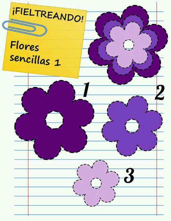 Molde flores sencillas