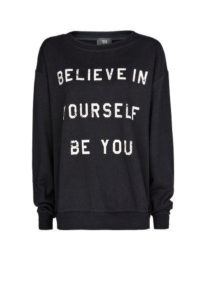Printed message cotton sweatshirt