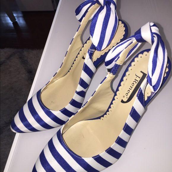 J. Renee stripped pumps Slightly used gorgeous nautical pumps. 4 1/2 covered heels. J. Renee Shoes Heels