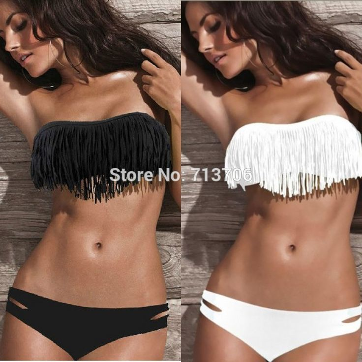 Great item for everybody.   2015 Black White Sexy Women's Beach Bathing Suit Favor Padded Tassels Boho Fringe Bikini Set Top and Bottoms Swimwear Swimsuit - US $5.87 http://fashionshophouse.com/products/2015-black-white-sexy-womens-beach-bathing-suit-favor-padded-tassels-boho-fringe-bikini-set-top-and-bottoms-swimwear-swimsuit/