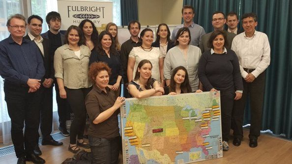 Fulbright Hungary says farewell to 27 new Fulbright grantees on their way to the USA during AY 2017-18!