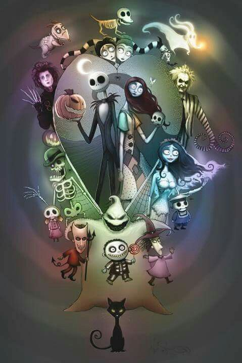 Tim Burton collage