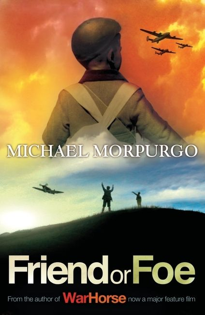 Friend or Foe is a gripping World War II story from Michael Morpurgo.  Evacuated from London, David and Tucky feel the war is a long way away from their new life in the countryside. Then one night the skyline of the moor is lit up with gun flashes, and the distant crump of bombing miles away brings the war back to them and shatters their new-found peace. When a German bomber crashes, the boys feel they should hate the airmen inside. But one of them saves David's life...