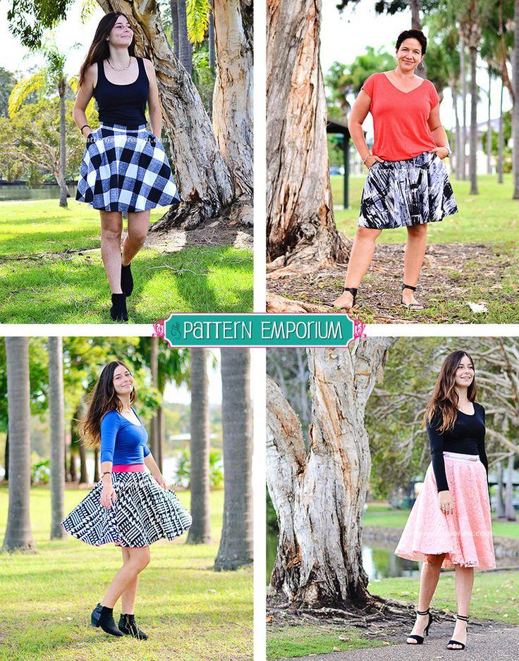 Ladies Skater Skirt PDF Pattern