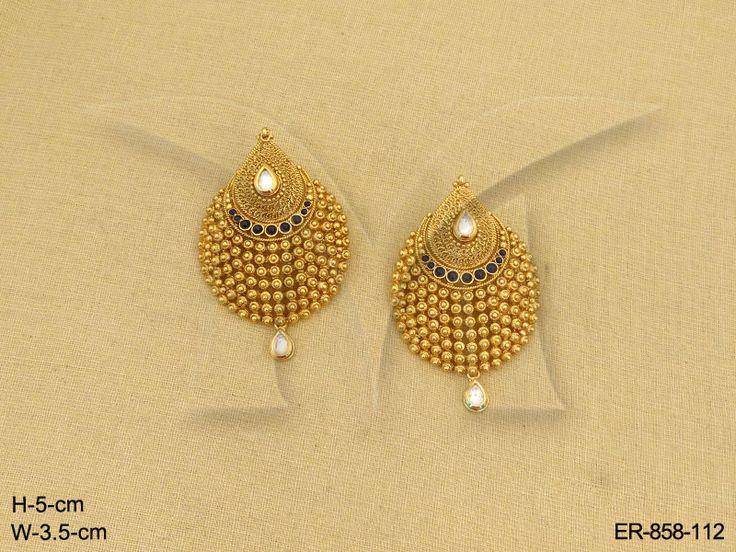 ER-858Bl-112 #Calcutta #Kolkata #South #SouthIndian #Madras #Punjab #Bollywood #Traditional #India #Bridal #Engagement #Wedding #Jewellery #Style #Accessories #Fashion #Bollywood #Traditional #Indian #Delicate #Dress #Saree #Lehanga #Women #Punjabi_Suit