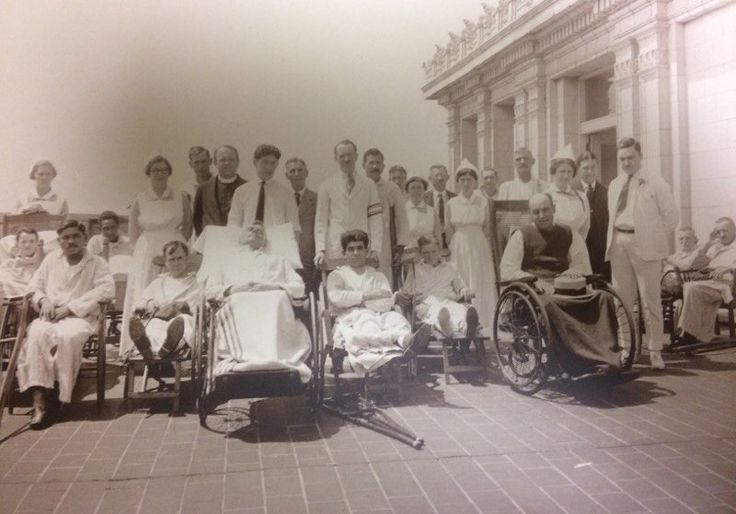 Misericordia (Mercy Philadelphia) Hospital patients and staff on the patio, 1920s. #ThrowbackThursday #tbt #100YearsOfMercy #CenturyClub