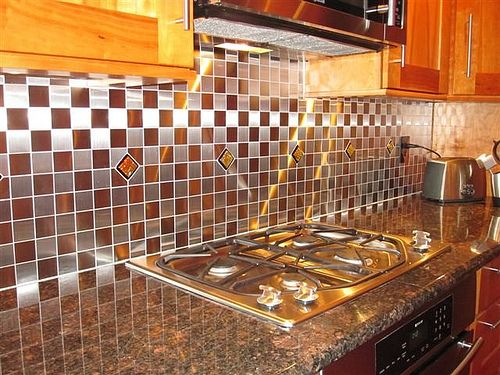 glass tile kitchen backsplash kitchen backsplash glass mosaictiles in stainless steel tiles kitchen